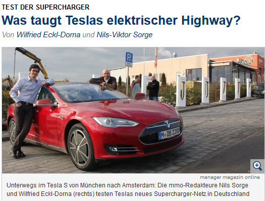 Manager Magazin Tesla Supercharger